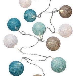 Cellbes Valoköynnös Cotton ball Valkoinen Harmaa Turkoosi
