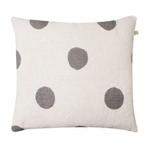 Chhatwal & Jonsson Big Dots Tyynynpäällinen Valkoinen / Harmaa 50x50 Cm