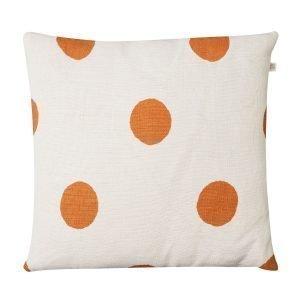 Chhatwal & Jonsson Big Dots Tyynynpäällinen Valkoinen / Oranssi 50x50 Cm