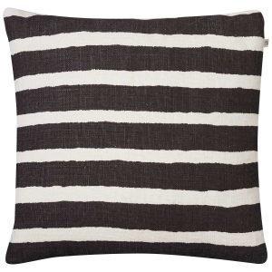 Chhatwal & Jonsson Block Stripe Tyynynpäällinen Ruskea / Valkoinen
