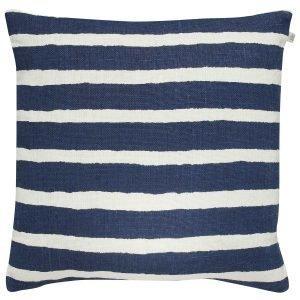 Chhatwal & Jonsson Block Stripe Tyynynpäällinen Sininen / Valkoinen