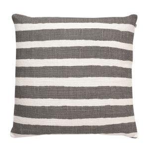 Chhatwal & Jonsson Block Stripe Tyynynpäällinen Valkoinen / Harmaa 50x50 Cm