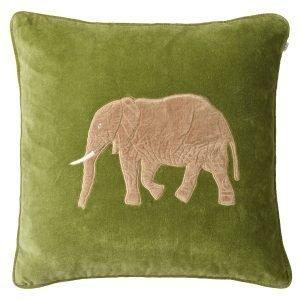 Chhatwal & Jonsson Embroidered Elephant Tyynynpäällinen Cactus 50x50 Cm