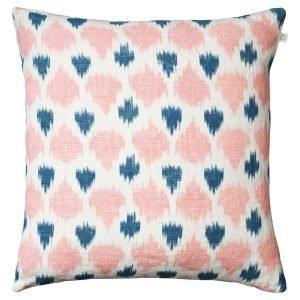 Chhatwal & Jonsson Ikat Assam Tyynynpäällinen Vaaleanpunainen / Sininen