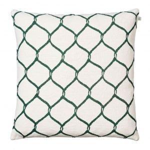 Chhatwal & Jonsson Jaal Tyynynpäällinen Valkoinen / Vihreä 50x50 Cm