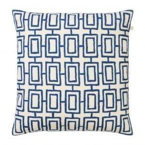 Chhatwal & Jonsson Kashi Tyynynpäällinen Valkoinen / Sininen 50x50 Cm