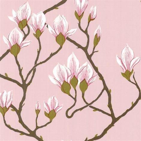 Cole & Son Magnolia Tapetti Vaaleanpunainen