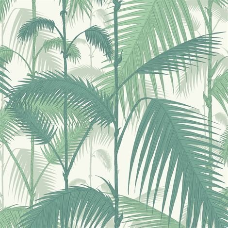 Cole & Son Palm Jungle Tapetti Tummanvihreä