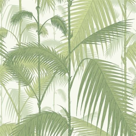 Cole & Son Palm Jungle Tapetti Vaaleanvihreä