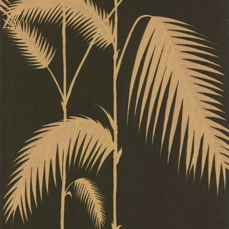 Cole & Son Palm Leaves Tapetti Musta