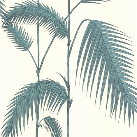 Cole & Son Palm Leaves Tapetti Valkoinen