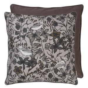 Cozy Living Cotton Floral Bird Tyyny Square Steel 50x50 Cm