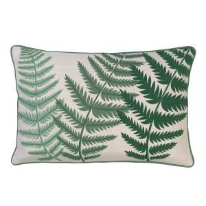 Cozy Living Embroidered Fern Leaf Bead Tyyny Kale 40x60 Cm