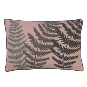 Cozy Living Embroidered Fern Leaf Bead Tyyny Magnolia 40x60 Cm