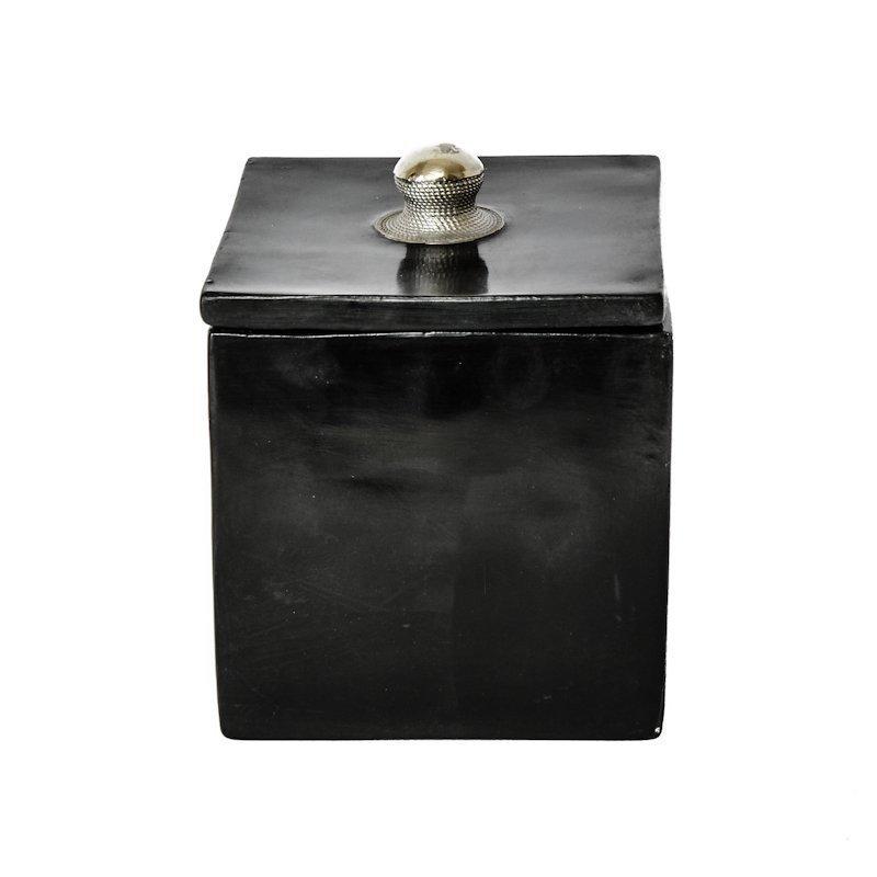 Cube Keraaminen Säilytysrasia 10 Cm Musta