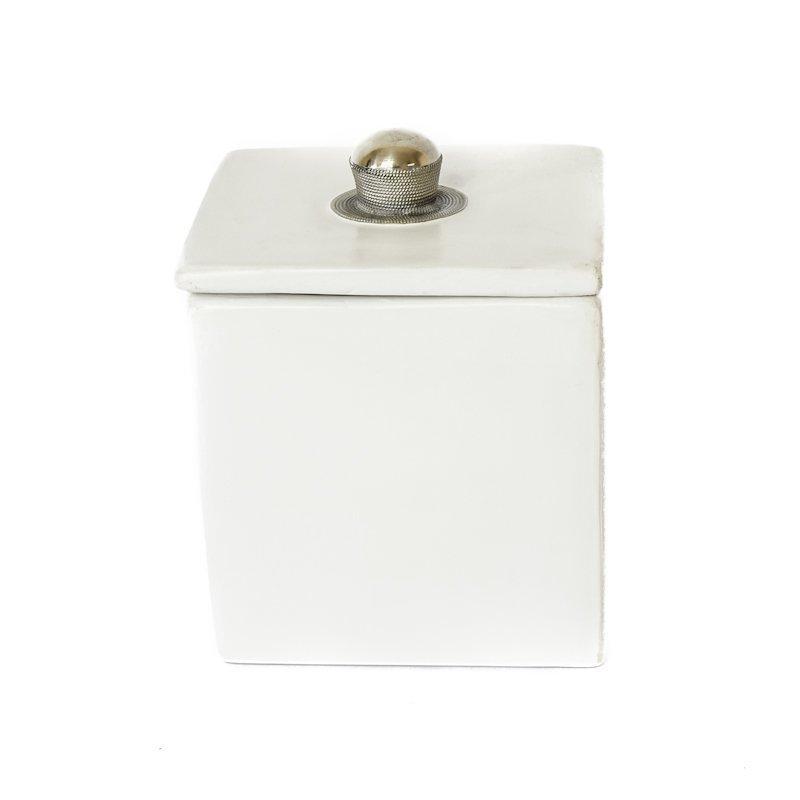 Cube Keraaminen Säilytysrasia 10 Cm Valkoinen