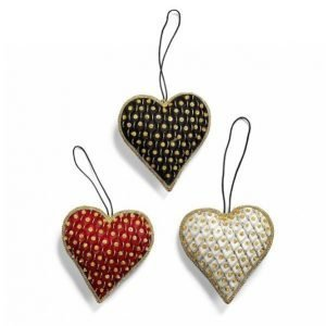 Day Home Day Heart Pendants Joulukoristeet 3 Kpl