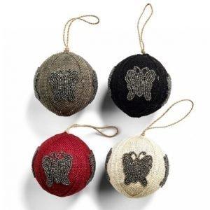 Day Home Day Pedants Jute Balls Joulukoristeet 4 Kpl