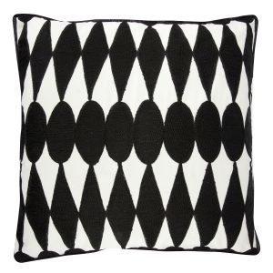 Day Home Iman Tyynynpäällinen Valkoinen / Musta 50x50 Cm