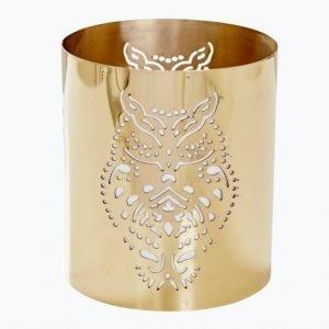 Day Home Owl Pierced Lantern Kynttilälyhty