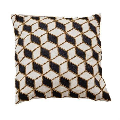 Day Home Quadro Tyynynpäällinen Rainyday Musta-Kulta 50x50 cm