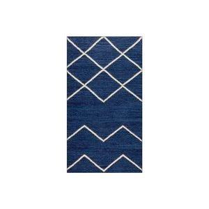 Decotique Geometrie 01 Matto Sininen / Offwhite 80x150 Cm