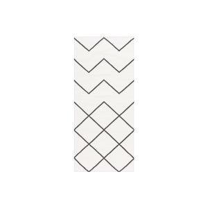 Decotique Geometrie Coton 01 Matto Valkoinen / Musta 80x150 Cm