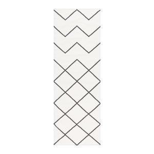 Decotique Geometrie Coton 01 Matto Valkoinen / Musta 80x240 Cm