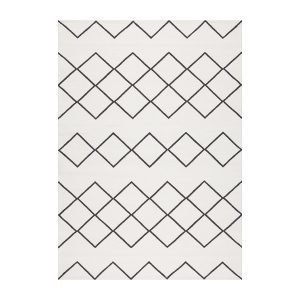 Decotique Geometrie Coton 03 Matto Valkoinen / Musta 200x300 Cm