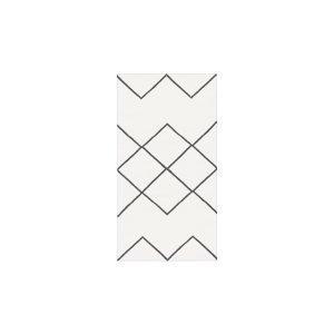 Decotique Geometrie Coton 03 Matto Valkoinen / Musta 80x150 Cm