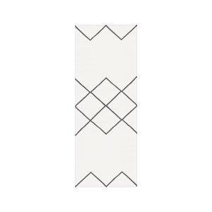 Decotique Geometrie Coton 03 Matto Valkoinen / Musta 80x200 Cm