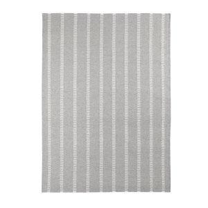 Decotique Tapis Cendre Rayé Matto Harmaa / Valkoinen 170x240 Cm