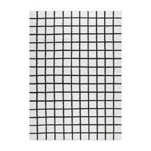 Decotique Tapis Damier Matto Valkoinen / Musta 170x240 Cm