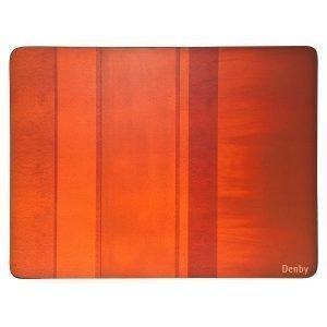 Denby Colours Pöytätabletti Oranssi 6 Kpl