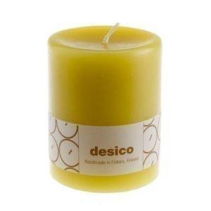 Desico Pöytäkynttilä 10 cm oliivinvihreä 6 kpl