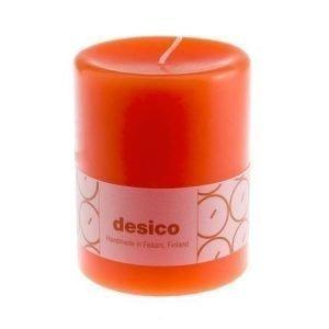 Desico Pöytäkynttilä 10 cm oranssi 6 kpl