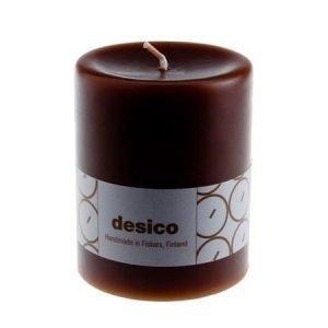 Desico Pöytäkynttilä 10 cm tummanruskea 6 kpl