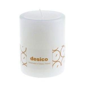 Desico Pöytäkynttilä 10 cm valkoinen 6 kpl