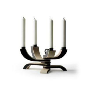 Design House Stockholm Nordic Light kynttilänjalka musta