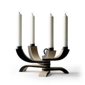 Design House Stockholm Nordic Light nelihaarainen kynttilänjalka musta
