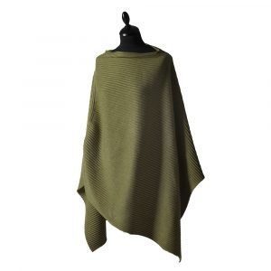 Design House Stockholm Pleece Poncho New Army Green