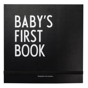 Design Letters Aj Babys First Book Kirja Musta