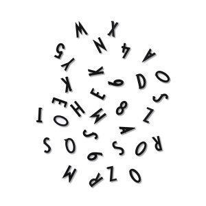 Design Letters Aj Kirjaimet & Numerot Musta