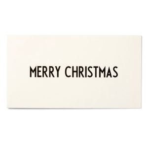 Design Letters Aj Onnittelukortti Merry Christmas