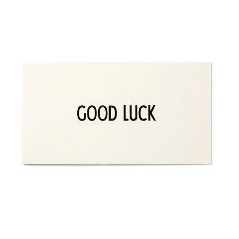 Design Letters Aj Vintage Abc Kortti Good Luck