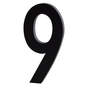 Design Letters Architect 6 Numero Tummanharmaa Iso