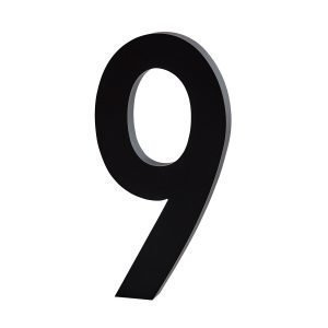 Design Letters Architect 8 Numero Tummanharmaa Pieni