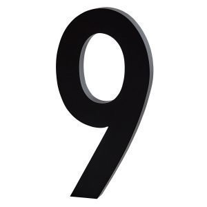 Design Letters Architect 9 Numero Tummanharmaa Iso