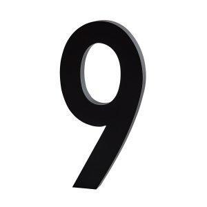 Design Letters Architect 9 Numero Tummanharmaa Pieni