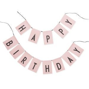 Design Letters Happy Birthday Liput Roosa